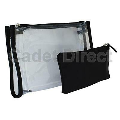 Large Clear Travel Makeup Purse |  Black Padded Pencil Case | Caboodles Dynamic