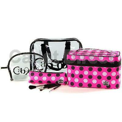 PVC Polka Dot | Overnight Bag | Toiletry Organiser | Caboodles Glamorous 8 Piece