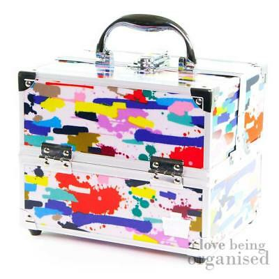 Small Paint Splash Cosmetic Artist Storage Box Colourful | Caboodles Adored 4 Tr