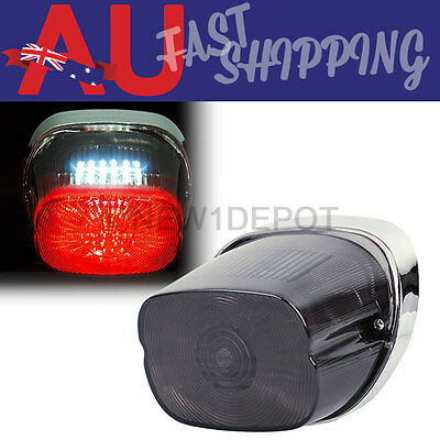 AU Motorcycle Smoke LED Brake Tail Light Turn Signal for Harley Dyna Touring 7M