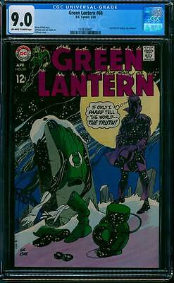 Green Lantern # 68  Classic Gil Kane Cover !  CGC 9.0 scarce book !