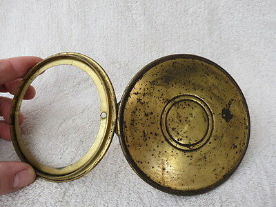 Antique French Brass Clock Back