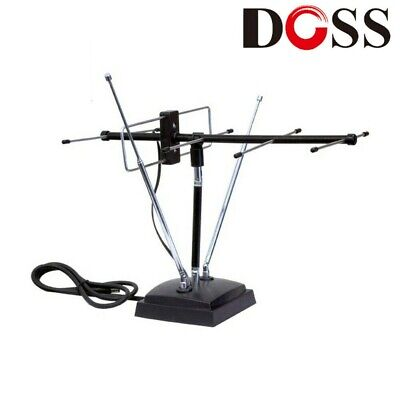 Doss VHF/UHF Indoor Television/TV Digital Antenna/Aerial Channels Coaxial