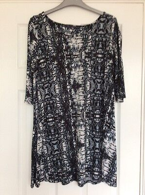 M&S Collection Black/Grey/White Top (Size 12)