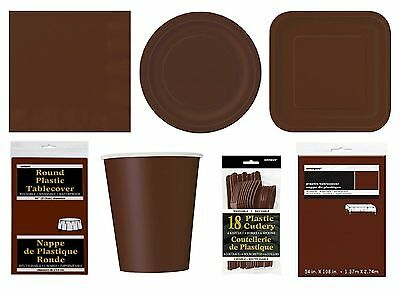 BROWN Party Tableware Disposable Birthday Supplies Event Decorations