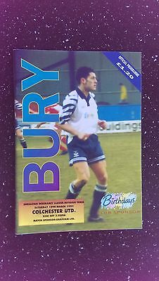 Bury V Colchester United 1993-94
