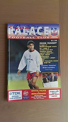 Crystal Palace V Middlesbrough 1995-96