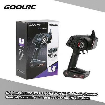 Original GoolRC TG3 2.4GHz 3CH Transmitter with Receiver for RC Car Boat Z5K1