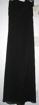 NEW Vineyard Collection Womens Long Black Formal, Prom Dress Gown Size 2