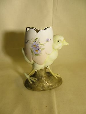 Ultra rare  vintage, antique chick in an egg, Germany bisque