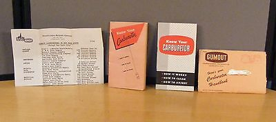 Know Your Carburetor From Pennsylvania Refining Co. Two Vintage Booklets +