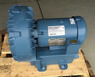 Ametek Dr858Ay72X Regenerative Blower 7.5Hp #03876 New