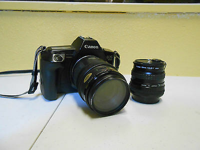 CANON EOS 650 CAMERA WITH 35-105 mm LENS AND EXTRA CANON 52mm LENS