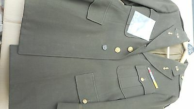 WW2 US Army Officers Tunic Named With Dog Tag To LT Cornell First Army Ordinance