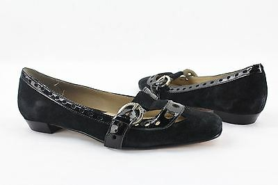 NEW Michael Kors Black Suede/Leather Slip ON Loafers Womens Size 5M
