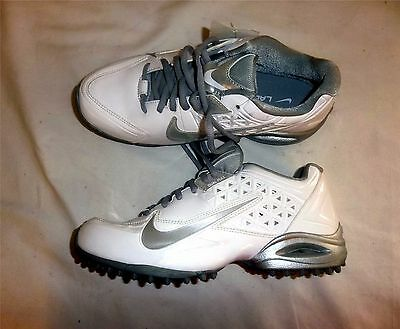 Nike Air SpeedLax 4 Lacrosse Turf Cleats NEW White/Silver Size 7
