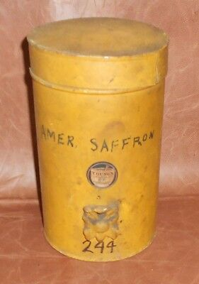 c1890 Antique Pharmacy Tin Can Cannister with Shelf Knob Bethlehem PA Druggist