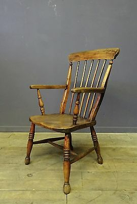 Antique Lath Stick Back Chair, 19th Century