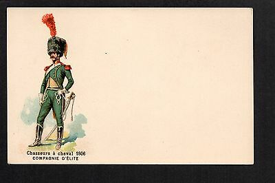 French Military - Chasseurs a Cheval 1806 -  colour printed postcard
