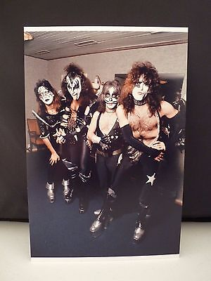 Kiss 1976 Sweden Live Backstage Candid Band 8x12 Photo #2 From Original Negative