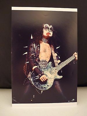 Kiss 1976 Sweden Backstage Gene Simmons 8x12 #3 Photo From Original Negative