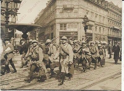 1920 Frankfurt-am-Main  French occupation troops *REAL PHOTO cm 16x12