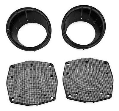 Kuryakyn LED Speaker Bezel Black #7286 Harley Davidson