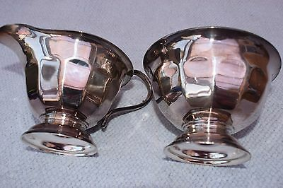 Elegant Vintage Silver Plated EPNS Sheffield Milk Jug & Sugar Bowl