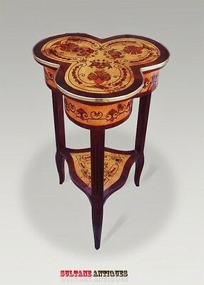 French marquetery Louis XV style SIDE TABLE