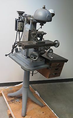 Benchmaster Vertical Mill Model MH2 Milling Machine Table 18 x 6 USA Made 110V