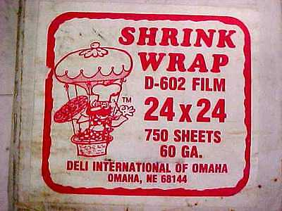 750 ct. Deli Wrap Shrink Film for Wisco Pizza Wrap Machine 24 x 24