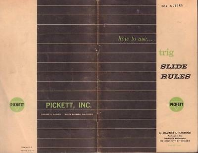 VINTAGE 1960 PICKETT Trig Slide Rule Model N200T, Leather
