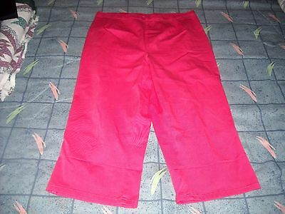 White Stag Women's Plus 18/20 Capris Cropped Pants Coral Vibrce Stretch Pull-On