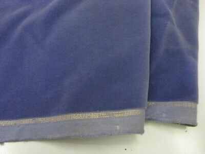 Vintage velvet fabric yardage  Germany cotton 34 in W Lavender