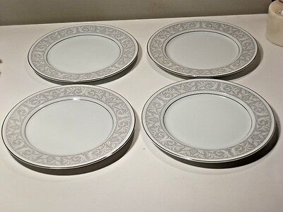 "4 IMPERIAL CHINA WHITNEY 10 3/8"" DINNER PLATES NICE Designed by W DALTON #5671"