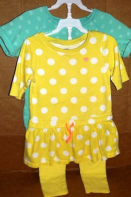 """SIZE 6  3 Piece Carters 2 tops 1 pant Spring summer set OUTFIT """"READ"""""""