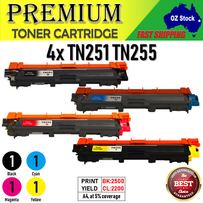 4x TN251 TN255 Toners for Brother HL3150CDN HL3170CDW MFC9330CDW MFC9335CDW