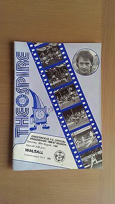 Chesterfield V Walsall 1986-87