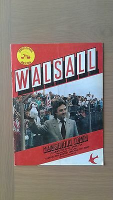 Walsall V Mansfield Town 1986-87