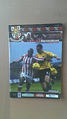 Lincoln City V Cheltenham Town 2003-04