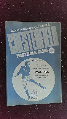 Chesterfield V Walsall 1972-73