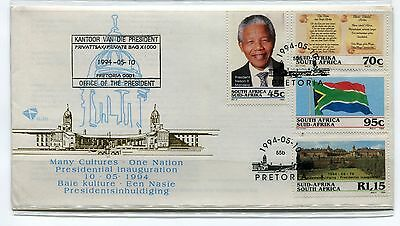 NELSON MANDELA PRESIDENTIAL INAUGURATION 1994 FDC with RARE PRINTING ERROR