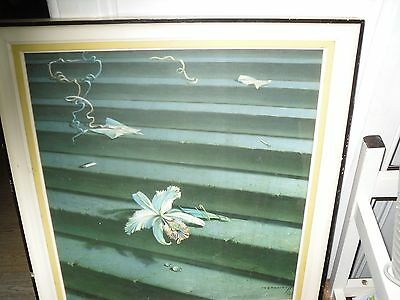 The Lost Orchid by Tretchikoff, original 1960s frame, Retro Picture