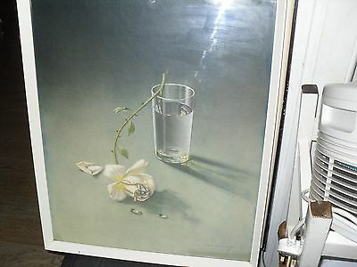 The Weeping Rose. by Tretchikoff, original 1960s frame, Retro Picture