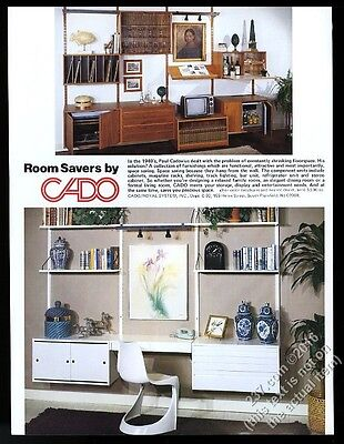1980 Poul Cadovius modern wall furniture Cado Royal System vintage print ad