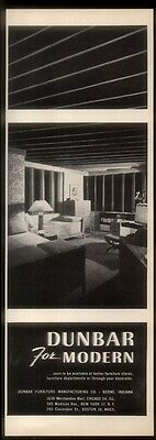 1946 Dunbar Modern bedroom furniture Edward Wormley bed chair etc photo print ad