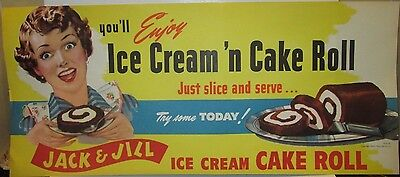 'Jack and Jill' ice cream supermarket sign for Ice Cream n Cake Roll