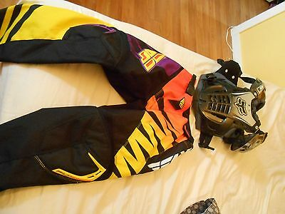 Lot Small Fox Racing Airframe Chest Protector And Fly F16 Racing Pans For Kids