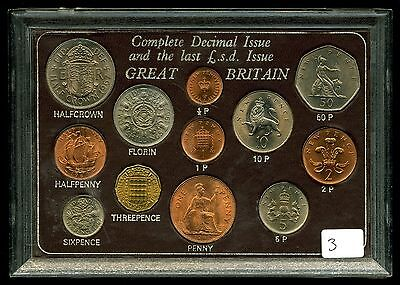 Great Britain Complete Decimal Issue and Last £.s.d. Issue 12-Coin Set #3