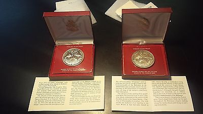Bahamas $2 1973 and 1974 Proof Sterling Silver Two Dollars (Lot of 2)